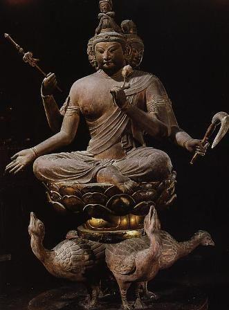 Japanese National Treasure, Statues of Sitting Bonten 梵天坐像(東寺)