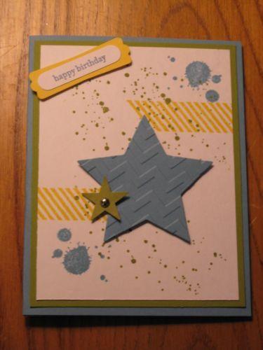 Birthday Handmade card: Grunge Star Son Husband Boyfriend ...
