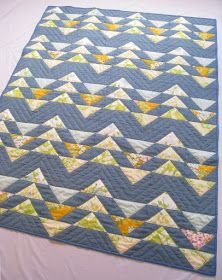 "Next up for our Quilt Class is the Flying Geese block!  This is what a single ""flying goose"" looks like in fabric:    Piecemeal Quilts    ..."