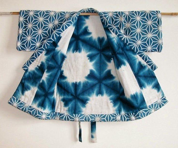 Un kimono au motif shibori / A shibori kimono