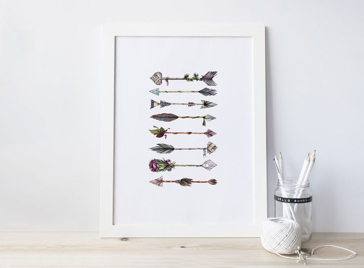 A personal favourite from my Etsy shop https://www.etsy.com/au/listing/497796928/boho-style-print-watercolour-print