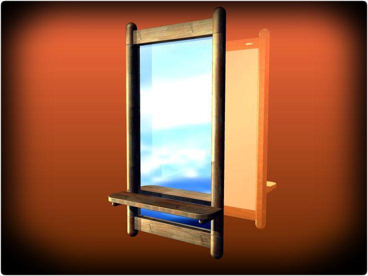Dřevěný rám zrcadla - KeyCreator, STEP / IGES, Autodesk Inventor - 3D CAD model - GrabCAD