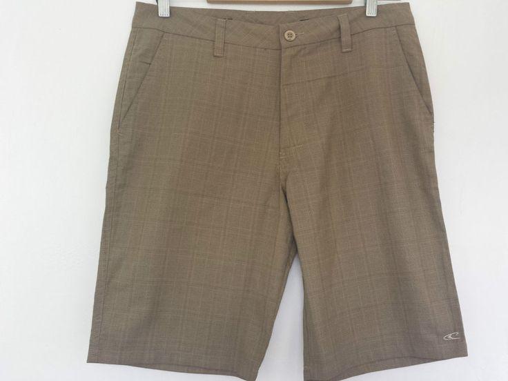 O Neill Shorts Mens Beach Plaid, 32 Waist. Colour Brown