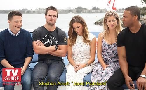 Tv guide Stephen Amell- Name a useless superhero, Jared Padalecki!