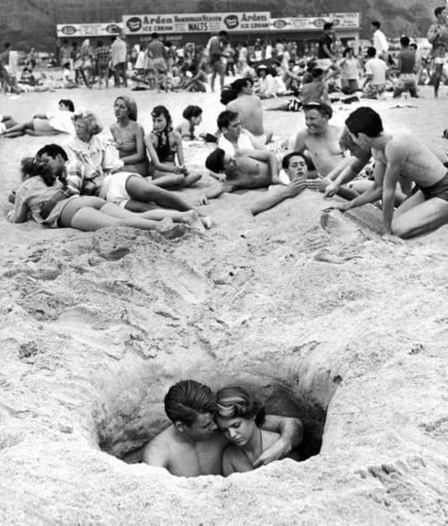 Santa Monica, California, July 4th 1950 | Photographer: Ralph CranePhotos, Ralph Cranes, Beach Romances, Beach Parties, Santa Monica, 4Th Of July, 1950, Photography, Beach Beautiful