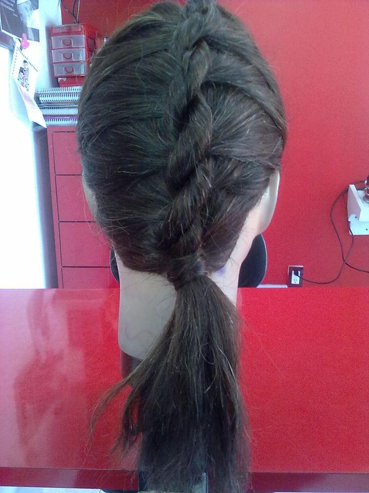 Realice el  peinado que usa Monserrat (Angeline Boyer) en Lo que La Vida Me Robo....