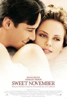 """""""Sweet November"""" is a classic Shakespearean Triste. I love the fullness of life that Charlie Theron's character embraces... Her philosophy and especially because this film takes place in San Francisco! One of my very favorite places on earth...."""