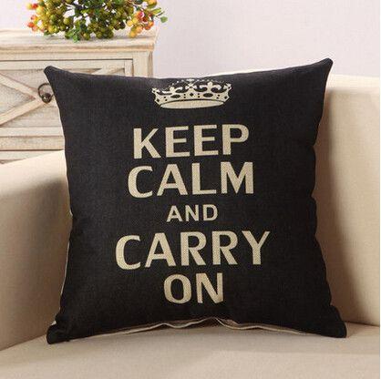 Fashion Letter Cushion Statement Pillow Case Inglese, Auto e Casa - statement letter