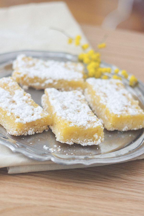 Recette carrés au citron, barres au citron ou Lemon Bars, Blog Dollyjessy