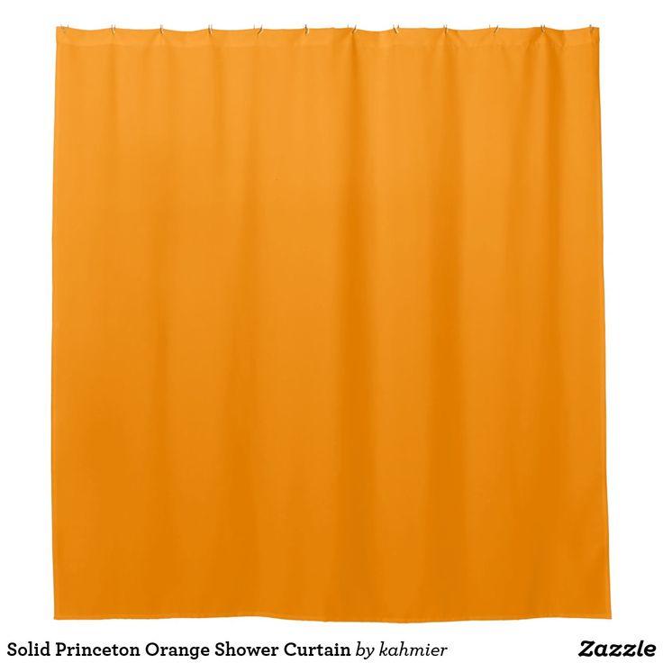 Solid Princeton Orange Shower Curtain