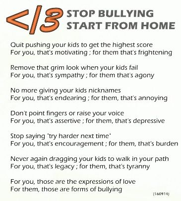 Stop Bullying, Start From Home #poem #poet #bullying #bully #children