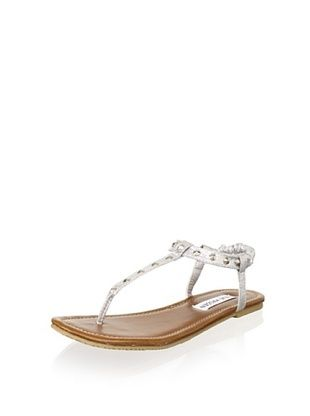 43% OFF Steve Madden Kid's Jvirtue Thong Sandal (Little Kid/Big Kid) (Silver)