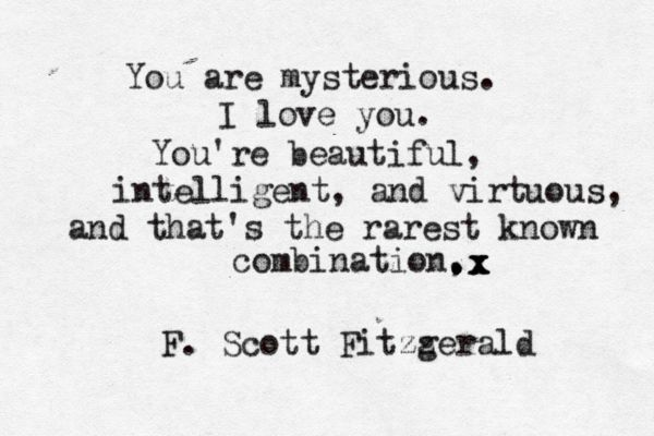 beautiful, virtuous, intelligent... be the rarest