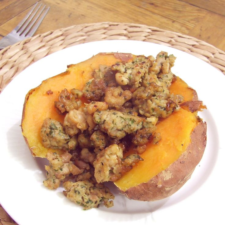 Recette patate douce et farce de poulet une vie sans for Cuisine 0 gachis