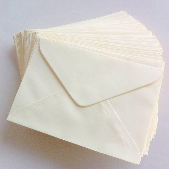 Set of 50 - A6 Cream Colored Envelopes