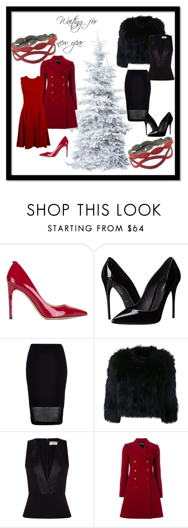 """""""Waiting for new year"""" by krilajewels on Polyvore featuring moda, Valentino, Dolce&Gabbana, River Island, H Brand, Balenciaga, Emporio Armani e Holly"""