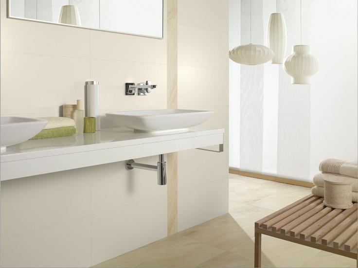 Elegant and light bathroom with Villeroy & Boch Loop Counter-top basin