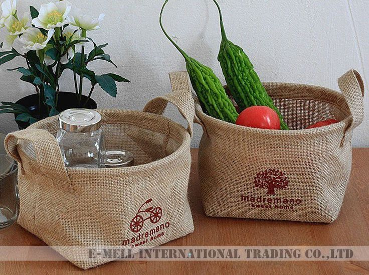 cestos paneras recipientes arpillera - Buscar con Google