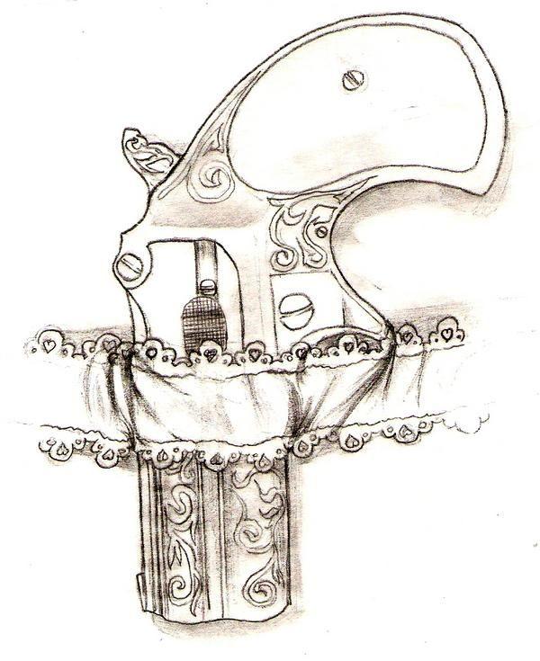 Image detail for -Derringer 2 shot pistol sketch with garter belt. in Drawings and Art ...