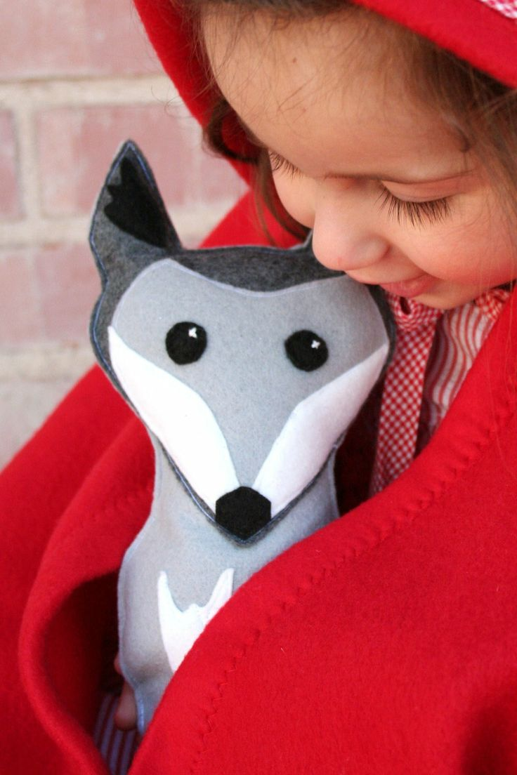 Grey Wolf by Mrs Savage, via Etsy.