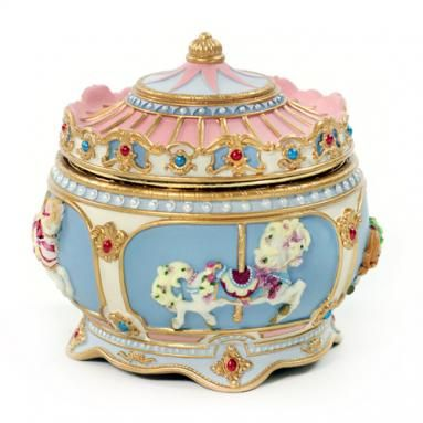 Carousel Music Boxes and Figurines - Collectible Musical Boxes and Figurines - AmazingMusicBox.com