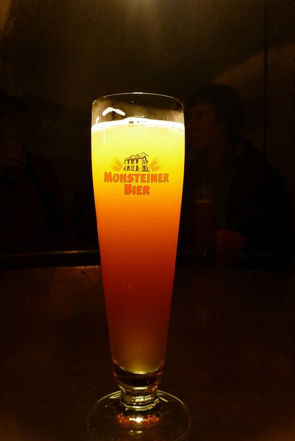 A lovely pint of beer from Europe's highest brewery, located in Switzerland.