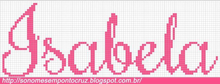 Nomes em Ponto Cruz: Isabela - Nomes em Ponto Cruz
