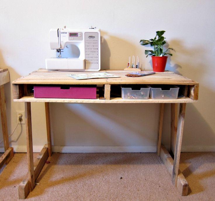 Yay! Apartmenting : DIY Pallet Desks