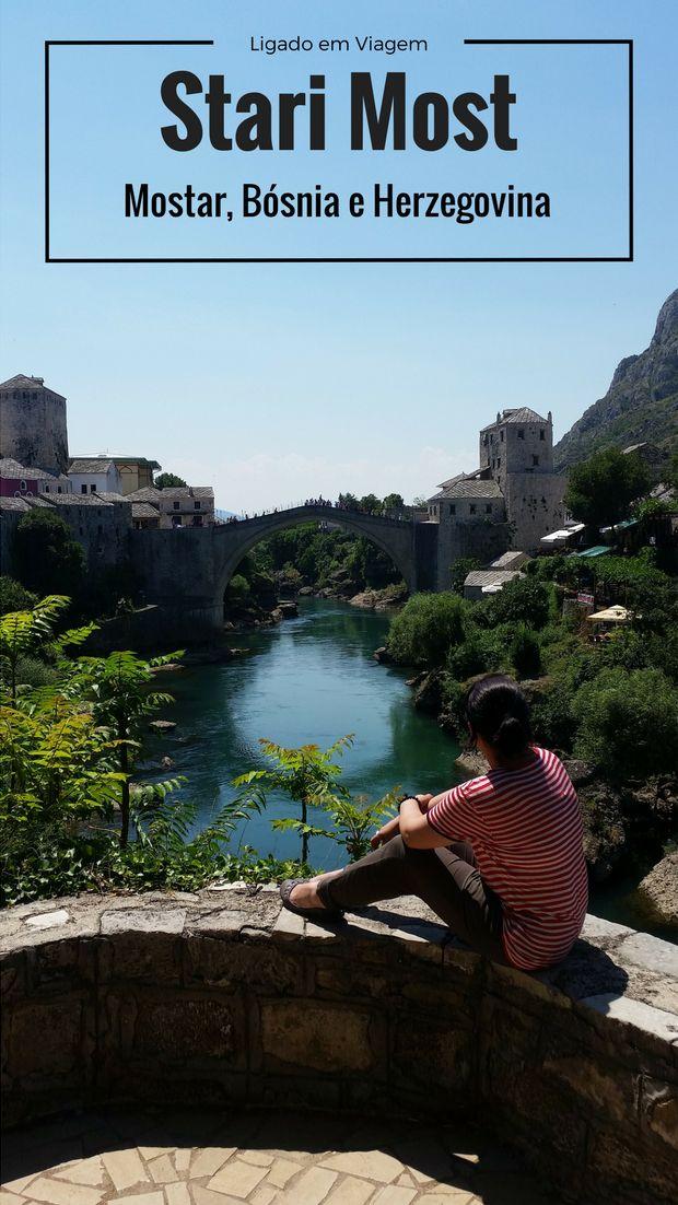 Saímos do Aeroporto de Sarajevo na Bósnia e Herzegovina e fomos para a cidade de Mostar visitar a famosa Stari Most, a Ponte Velha de seu centro histórico.
