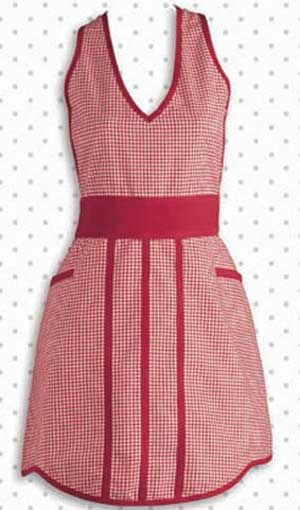 Gingham Check Apron, by Design India Imports. This lightweight cotton apron is in a sweet 50s style with a red and white gingham check pattern.  ... http://www.theweedpatchstore.com/weedpatchproducts/ginghamcheckapron.html