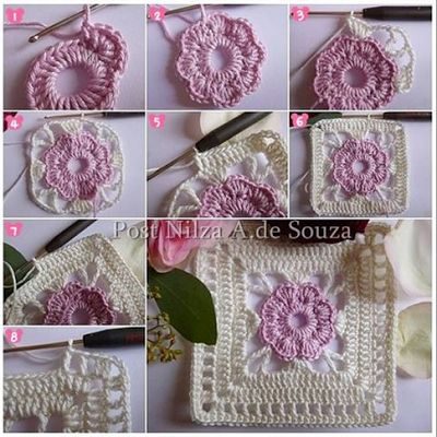 Comics of crochet for bedspreads, pillows or towels - Patterns follows in post ~ Artesanatos e Crochet
