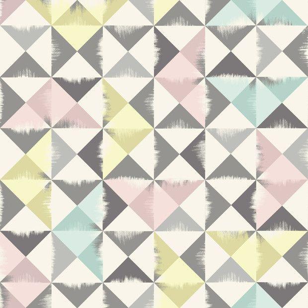 Triangle Brush - Grey - Fototapeter & Tapeter - Photowall