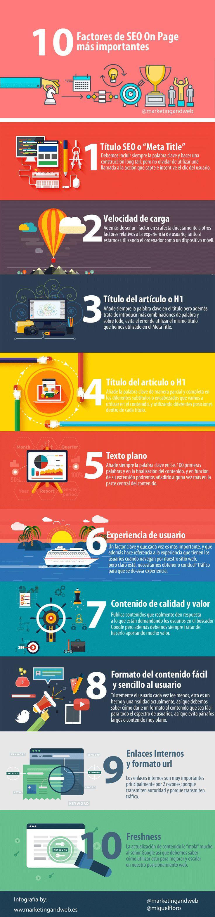 10 factores SEO On Page más importantes #SocialMedia #SEO