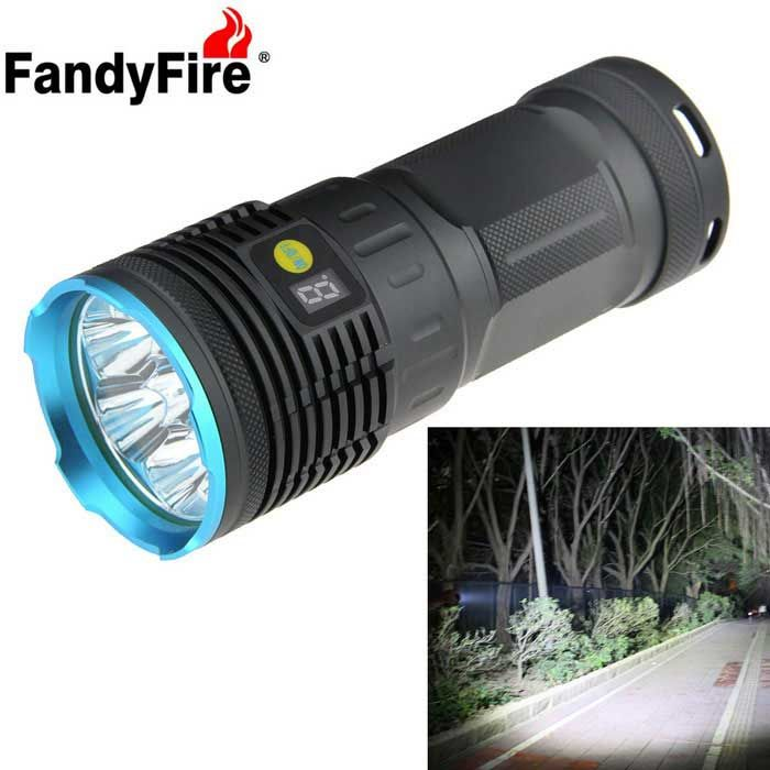 FandyFire 7-LED XM-L T6 6500lm High Bright Rechargeable LED Flashlight - Blue (4 x 18650). Find the cool gadgets at a incredibly low price with worldwide free shipping here. FandyFire 7-LED XM-L T6 6500lm Rechargeable LED Flashlight - Blue, 18650 Flashlights, . Tags: #Lights #Lighting #Flashlights #LED #Flashlights #18650 #Flashlights