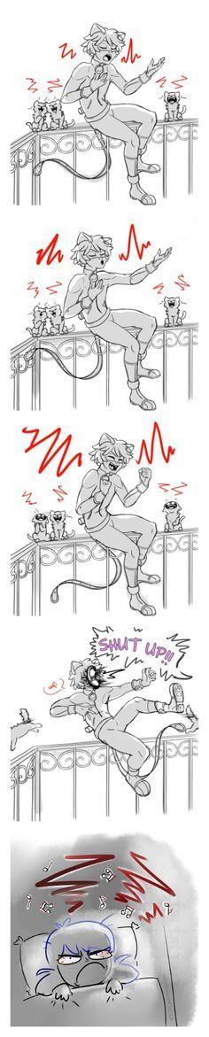 LA SHANKLA VOLADORA! CUIDADO Xdd pero nunca l aria eso a chat noir prefiero k cante toda la noche xDD