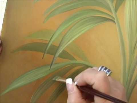 Acrylic Painting Techniques - Lost & Found Edges - Dimension for Leaves Naedeen Masters