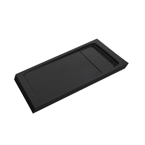 Just Trays JT Natural Anti-Slip Rectangular Shower Tray 1000mm x 800mm Coal Upstand