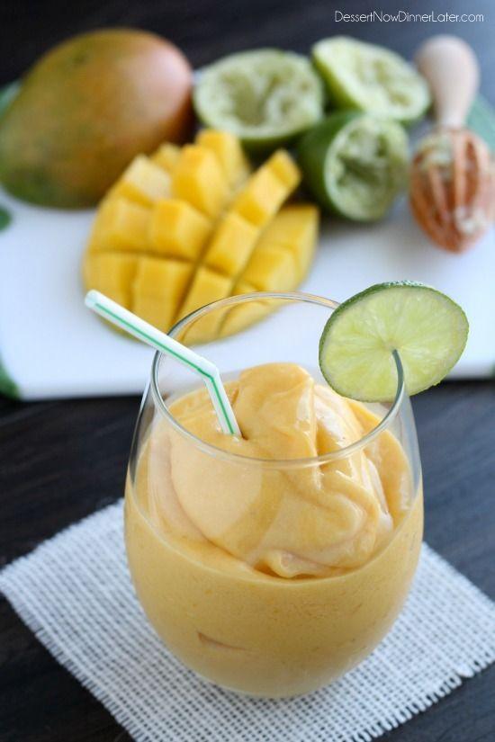 Mango Colada Mocktail- Using coconut milk and frozen mango chunks (but I say why not use fresh!!!)  Yum!