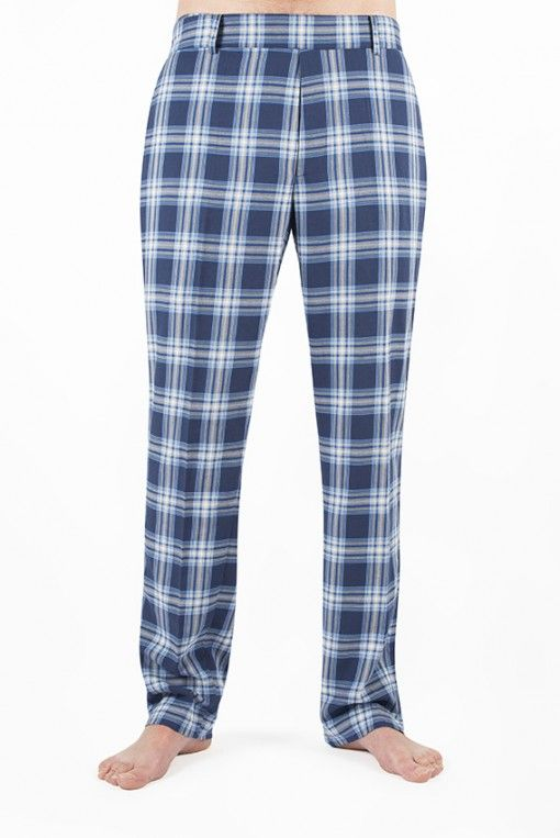 Men's pyjama bottoms - - ideal for when undergoing medical treatment due to the very discreet, but hugely practical adaptations made to give greater access to the groin, abdomen and legs.  This provides greater comfort, independence and dignity even when connected up to medical devices.