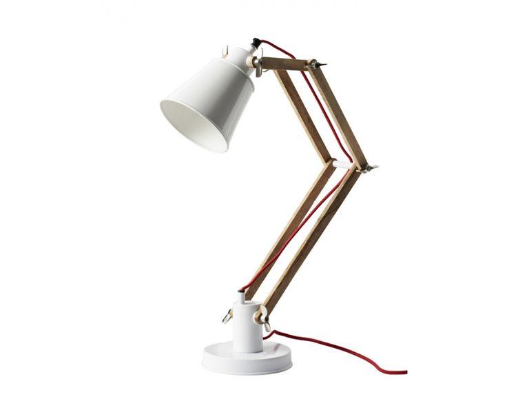 "for Etienne's vintage inspired ""old"" boys' room: Adjustable Desk Lamp with Red Cord - Homeware | Weylandts"