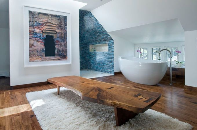 Oh to have that much space in the bathroom: Interior Design, Spaces, Bathtubs, Interiors, Bathroom Ideas, Architecture, Apartments, Dream Bathroom, Blue Bathroom