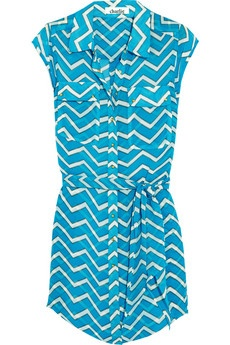 Turquoise chevron shirt dress Charlie by Matthew Zink