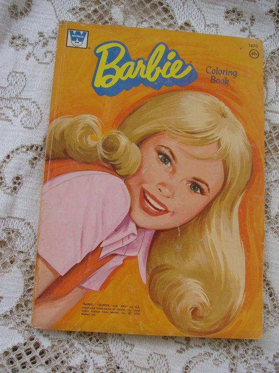 VIntage 1974 Barbie Coloring Book By Thecherrychic On Etsy 995