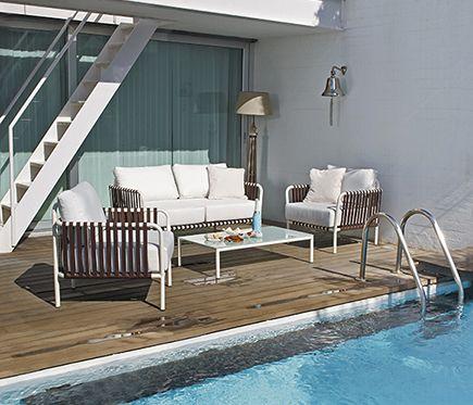 conjunto de aluminio y poli ster mozambique leroy merlin. Black Bedroom Furniture Sets. Home Design Ideas