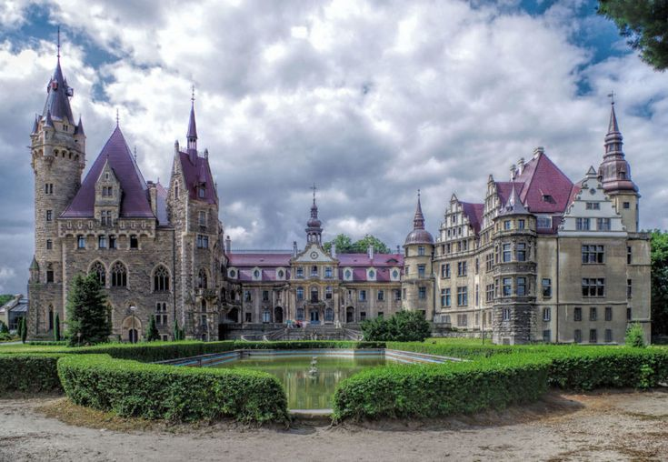 One of the World's Most Beautiful Castles is also a School for Wizards.  Mozna Castle: this Baroque behemoth lies in old Bohemia, otherwise known as Upper Silesia, Poland. The castle has 365 rooms and 99 spires