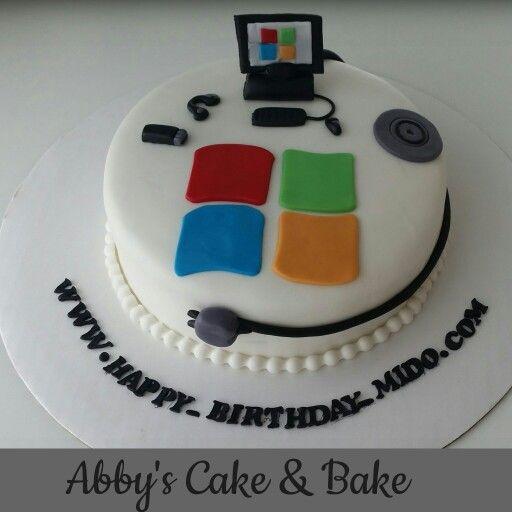 Computer Birthday Cake Uk