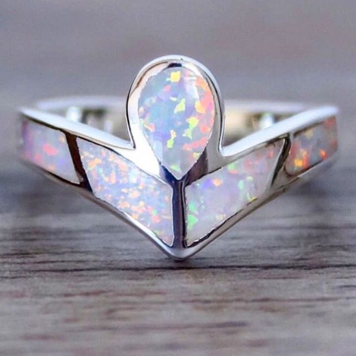 BACK IN STOCK  Angel Opal Ring  Available in our 'Mermaid' Collection  www.indieandharper.com