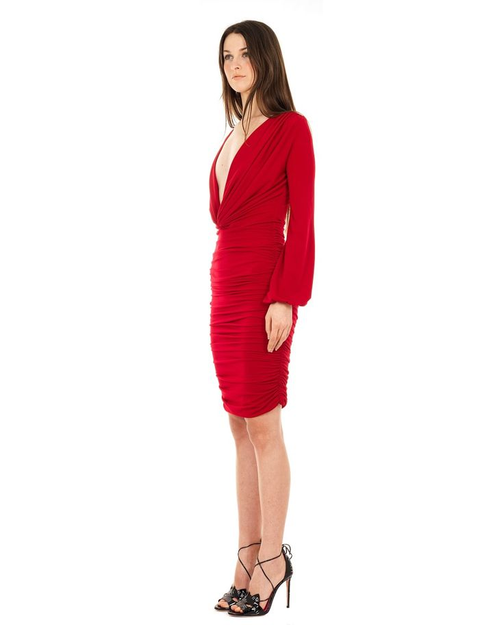 SEN COUTURE TIGHT DRESS WITH RUFFLES SS 2016 Tight dress  skirt with ruffles  long sleeves with wristbands  reversible front and back double fabric  95% Microfiber 5%  Lycra Dry wash
