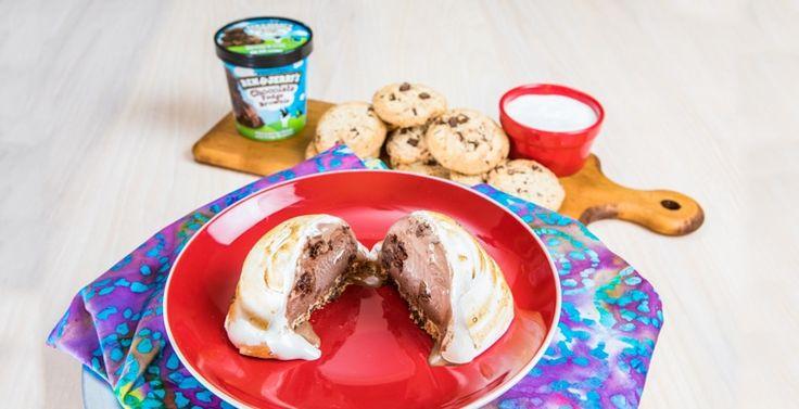 Baked Alaska Sundae  Cookie scoop of ice cream