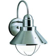 View the Kichler 9022 Transitional 1 Light Outdoor Wall Sconce from the Seaside Collection at LightingDirect.com.